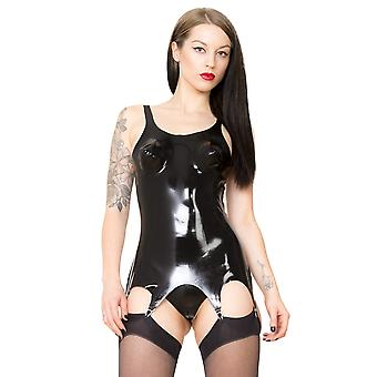 Raw Moulded Rubber Women es Corset Suspender Clips in Latex Black Classic