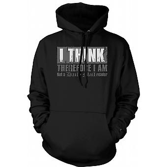 Kids Hoodie - I Think Therefore I Am Not A Daily Mail
