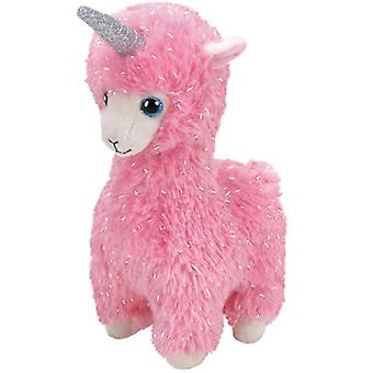 TY Beanie Boo - Lana Pink Llama with Horn