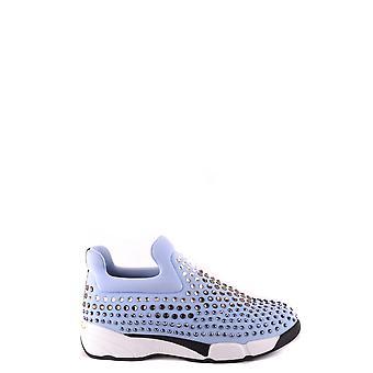 Pinko Ezbc056084 Kvinder's Lyseblå Nylon Slip På Sneakers