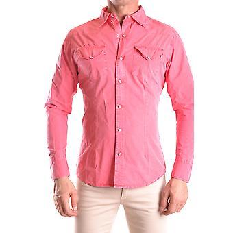 Daniele Alessandrini Ezbc107142 Miesten vaaleanpunainen puuvillapaita
