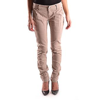 Jeckerson Ezbc069004 Women's Beige Cotton Jeans