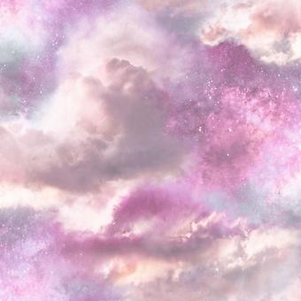 Diamond Galaxy Wallpaper Purple Blush Glitter Sparkly Textured Vinyl Arthouse