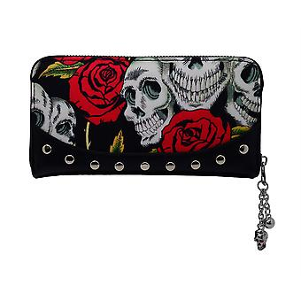 Banned Skulls and Roses Purse