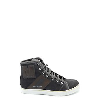 Marc Jacobs Ezbc062052 Mænd's Brown Leather Hi Top Sneakers