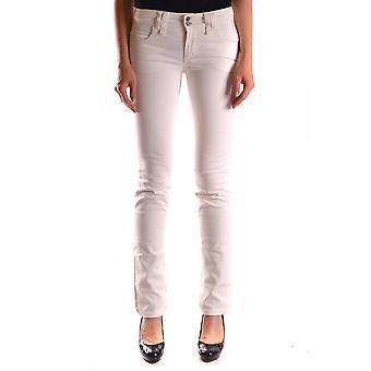 John Galliano Ezbc164021 Women's White Denim Jeans