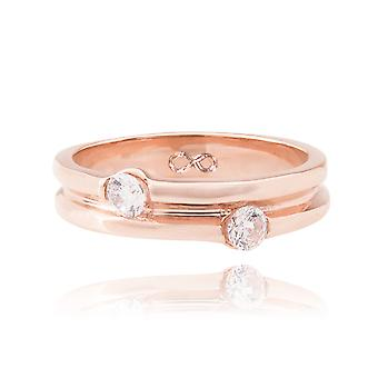 Ah! Jewellery Engraved 'Infinity Symbol' Unique Rose Gold Over Stainless Steel Ring