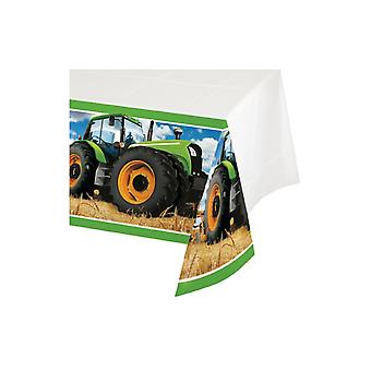 Tractor Party tablecloth 137x259 cm farm farm machinery Trecker children's birthday