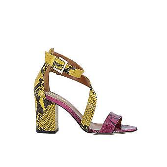 Paris Texas Px157pmpythonylw Women's Yellow Leather Sandalen