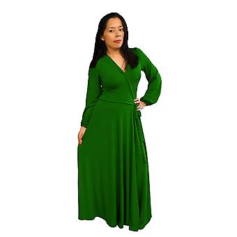 Dbg women's long sleeves maxi polyester dresses