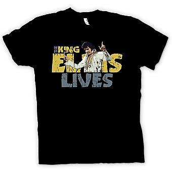Мужская футболка - король - Элвиса жизни