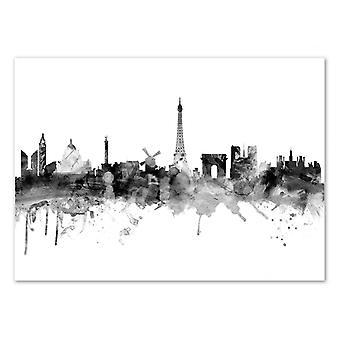 Kunst-poster-Paris France skyline-Michael Tompsett 70 x 100 cm