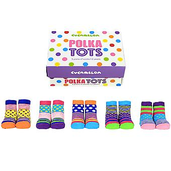 Cucamelon Polka Tots Socks Gift Set For Toddlers