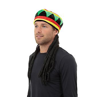 Bristol Novelty Unisex Adults Rastacap And Hair
