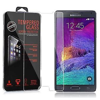 Cadorabo Tank Film for Samsung Galaxy NOTE 4 - Tempered Display Protective Glass in 9H Hardness with 3D Touch Compatibility