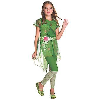 Poison Ivy DC Comic Super Hero SuperVillain kirja viikko lapsi tyttöjen puku