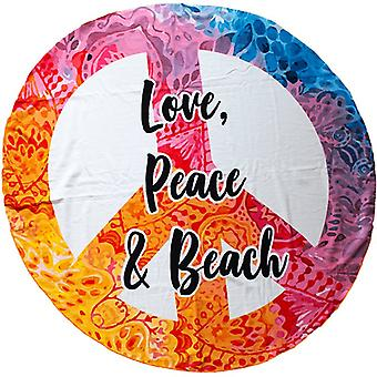 Microfiber bath Towel, Love, Peace & Beach