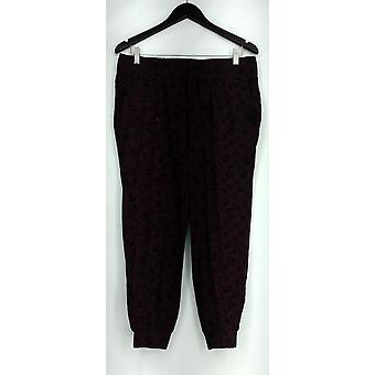 Chiunque Petite Lounge Pantaloni, Sleep Shorts MP Loungewear Cozy Knit Pant Red