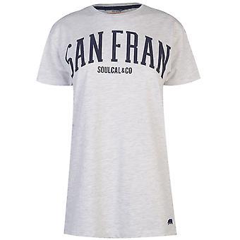 SoulCal Womens City tshirt T-shirt tee Top Kortärmad Crew hals damer