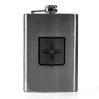 8oz state national guard - new mexico flask l1