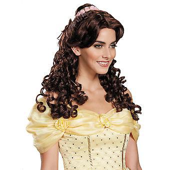 Beleza de Ultra Prestige Belle e a fera Disney Princess Womens Costume peruca