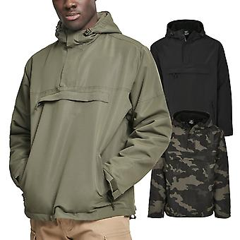 Brandit WINDBREAKER puxar-over exército Windbreaker, alinhado