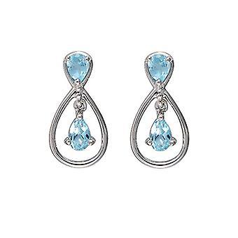 Ivy Gems Woman 9-carat gold white Pear blue Topazio