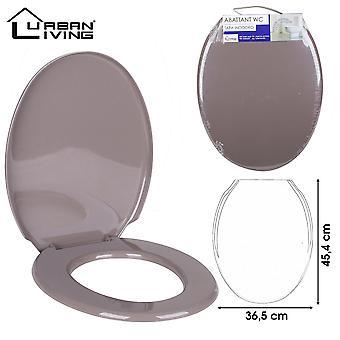 Siège de toilette Taupe Plastic45x36cm fort