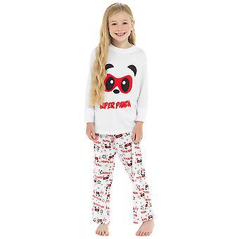 Filles 100% Cotton Super Panda Print Pyjama Set