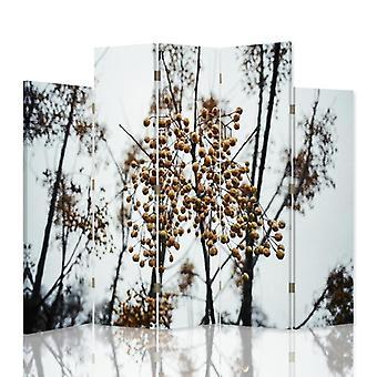Dekorativa rumsavdelare, 5 paneler, dubbelsidig, canvas, fruktträd 2