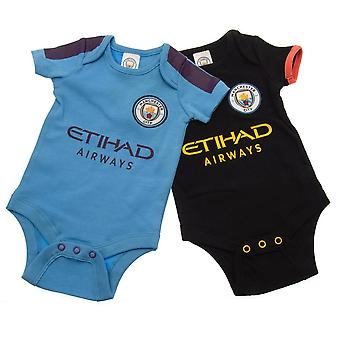 Manchester City FC Baby Unisex Body (Packung mit 2)