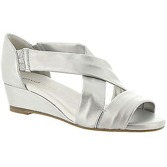 David Tate Womens Swell Leather Open Toe Special Occasion Platform Sandals