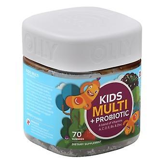 Olly Kids Multi + Probiotic Yum Berry Punch Gummies