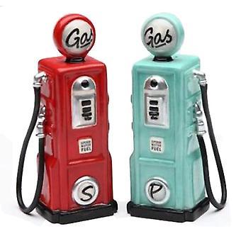 Viaje Look Vintage Gas bombas sal y pimienta coctelera Set