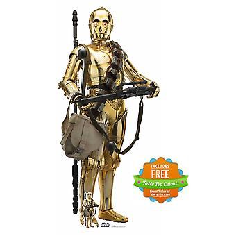 C-3PO Official Cardboard Cutout from Star Wars: The Rise of Skywalker