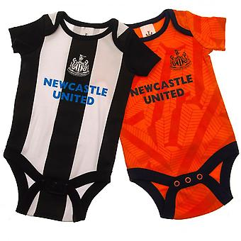 Newcastle United FC Baby Unisex Bodysuit (Pack Of 2)