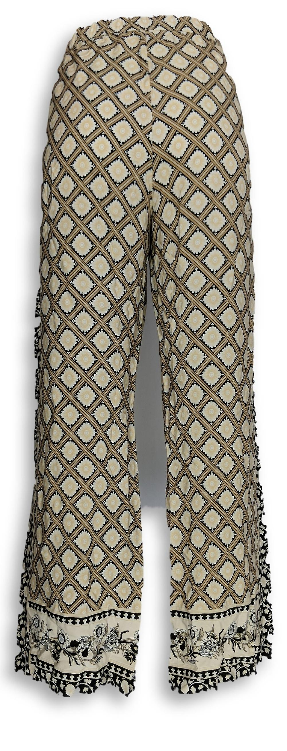 C. Wonder Women's Petite Pants Engineered Print Woven Beige A287462 O4dcI9