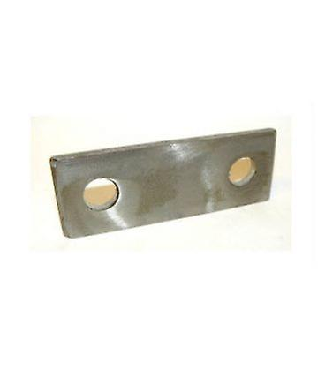 Backing Plate For M10 U-bolt 192 Mm Centers 20 X 3 Mm Self Colour Mild Steel