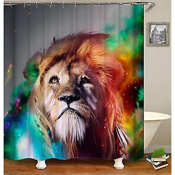 The Lion Chief Shower Curtain