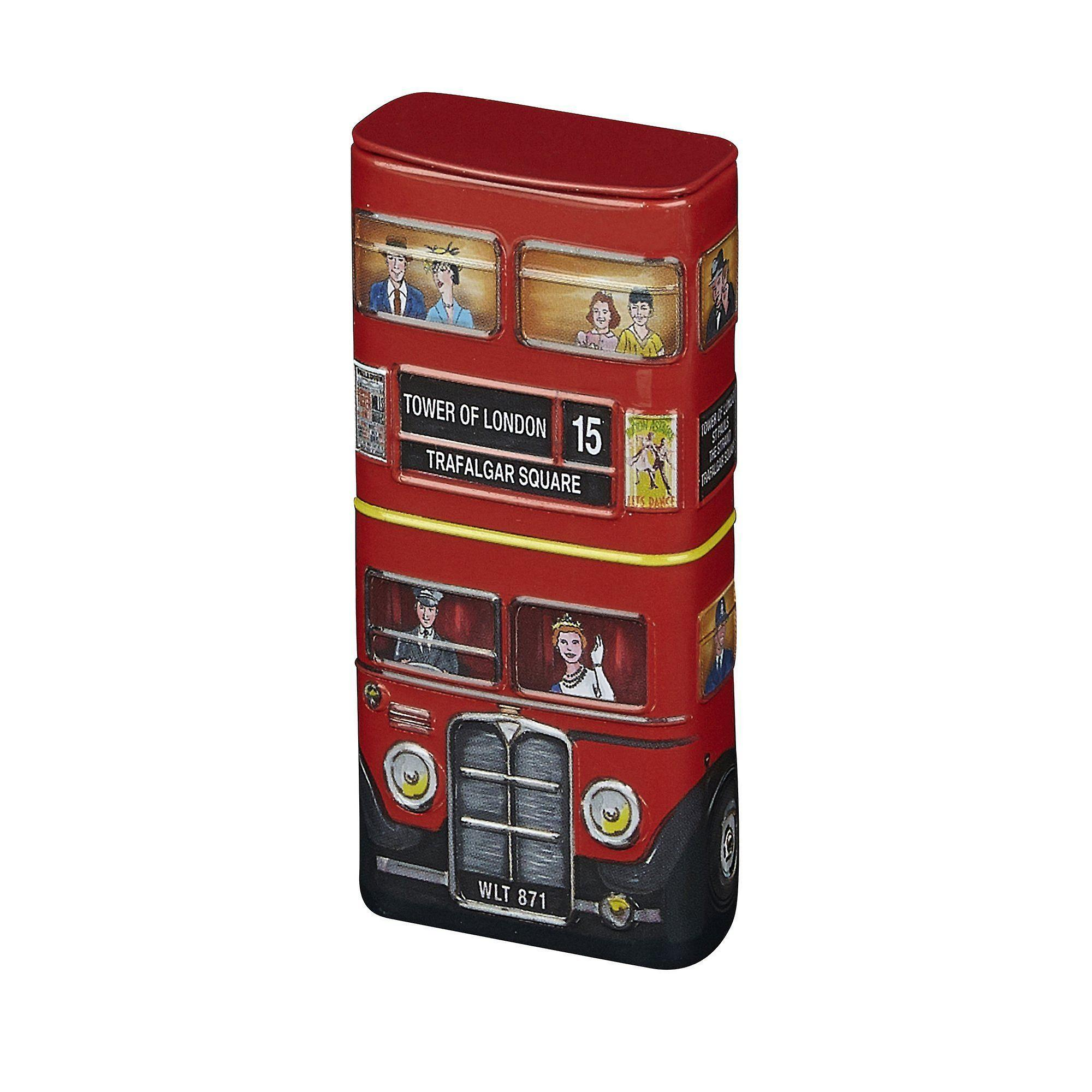 Red london bus sugar free mints with flip lid 25g