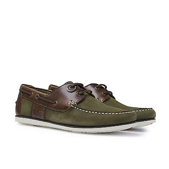 Barbour Capstan Olive/Mahogany Boat Shoes