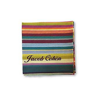 Jacob Cohen Pocket Square in multi colour stripe design