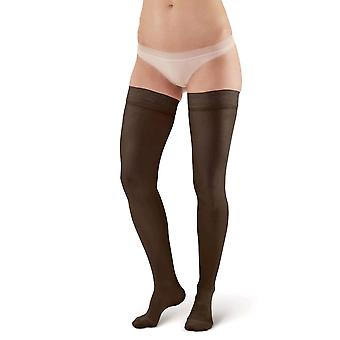 Pebble UK Microfibre Opaque Compression Thigh Highs [Style P263] Black  XL