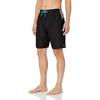 "Nike Swim Men's Color Surge 9"" Volley Short Swim Trunk, Black, Small"
