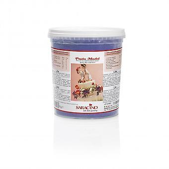 Saracino modellerings pasta-lila 1kg-BULK förpackning med 6