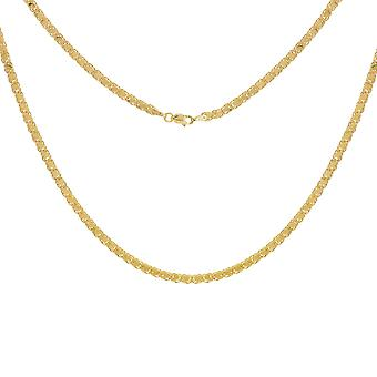 14k Yellow Gold Fancy Mirror Rope Leaf Chain Necklace Jewelry Gifts for Women - Length: 16 to 24