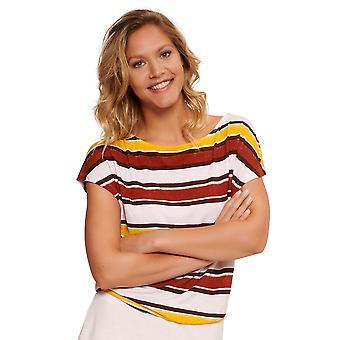 LingaDore 5408-167 Women's Pep Red Stripe Print Loungwear T-Shirt