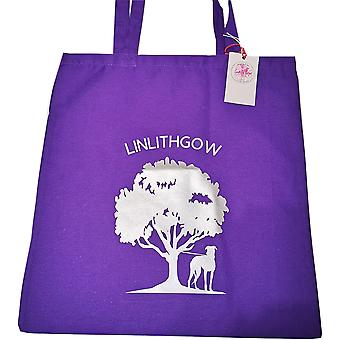 Tote Bag Linlithgow Black Bitch - Purple & Silver by Sweet Pea Designs