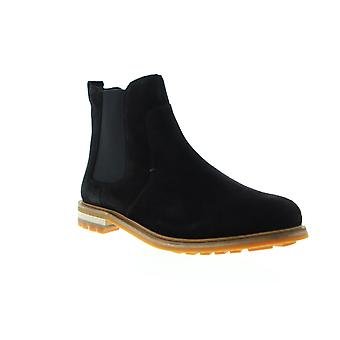 Clarks Foxwell Top  Mens Black Suede Slip On Chelsea Boots