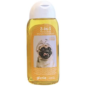Gloria Pets Shampoo e Condicionador Gloria Manuka Honey 200Ml